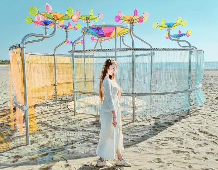 這次的裝置藝術浪漫又有趣-此為「海風」/照片提供_IG搜尋:@lineva0615