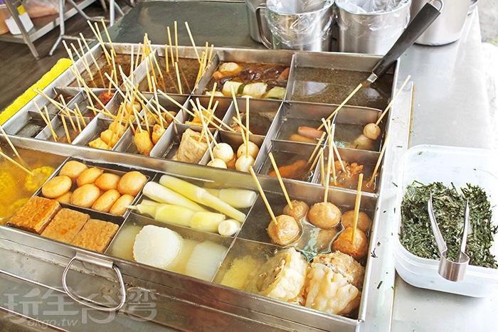 關東煮高湯以純粹食材熬煮/玩全台灣旅遊網特約記者阿辰攝