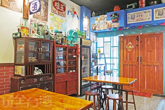 滿屋子陳列展示好幾千件古早味文物與用品,隨處都能發現驚喜喔!/玩全台灣旅遊網特約記者阿辰攝