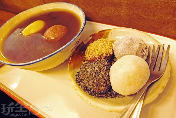 顆顆飽滿紮實的麻糬,是透過師傅親手一顆一顆揉製出來的手感,Q彈又綿密,風味絕佳/玩全台灣旅遊網特約記者阿辰攝