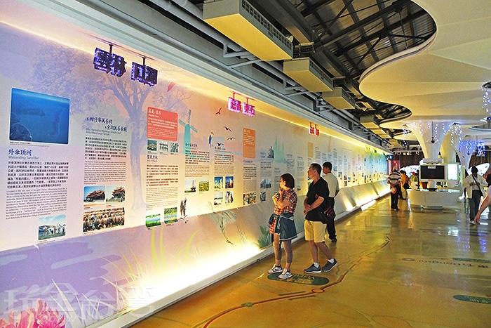 「北門遊客中心」內部佈置與裝置都呈現很新穎的時尚格調/玩全台灣旅遊網特約記者阿辰攝