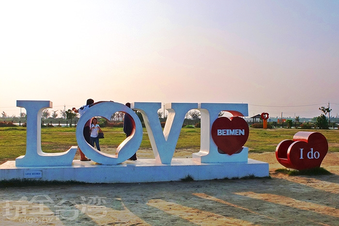 更多的浪漫幸福氣息在園區內的裝置藝術上表露無遺/玩全台灣旅遊網特約記者阿辰攝