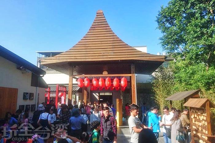 仿照日式建築所建造的長壽地藏尊神社。/玩全台灣旅遊網特約記者殘月攝