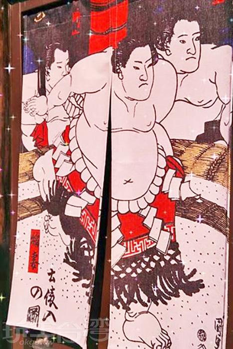 看到相撲便自然而然的聯想到日本啦。/玩全台灣旅遊網特約記者殘月攝