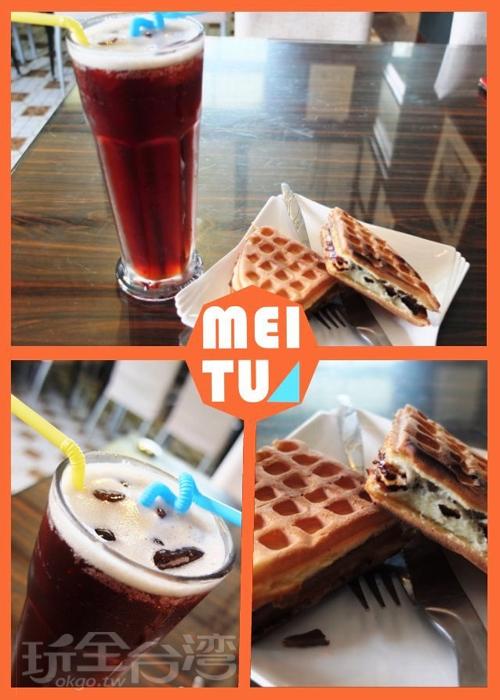 鬆餅現烤香酥可口/玩全台灣旅遊網特約記者阿辰攝