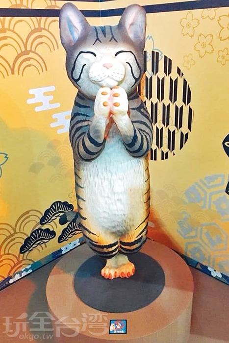 即使是大尺寸的喵星人還是一樣卡哇伊。/玩全台灣旅遊網特約記者殘月攝