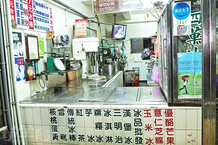 台南西港區的知名老冰店,懷舊風味可是在地人從小吃到大的回憶/玩全台灣旅遊網特約記者阿辰攝