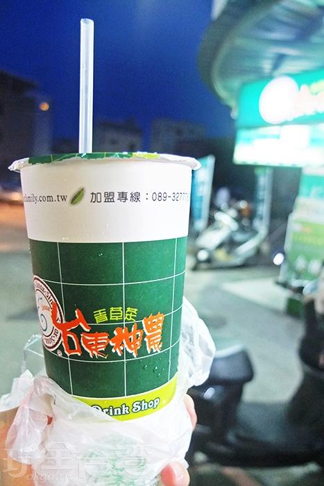 青草茶口味與台南知名店家也有所不同/玩全台灣旅遊網特約記者阿辰攝