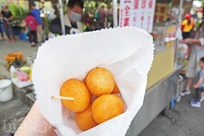 朱爺爺的QQ蛋香酥飽滿/玩全台灣旅遊網特約記者阿辰攝