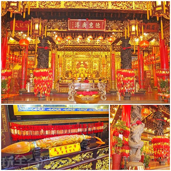 慈鳳宮曾經發生過大火,前後殿皆被燒毀,後來經在地人士募資修護,而擴建成現今規模。/玩全台灣旅遊網特約記者阿辰攝