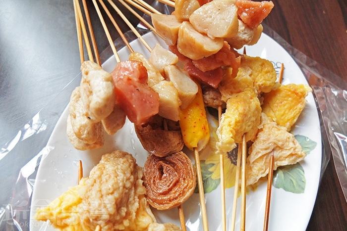 用台南在地的虱目魚食材做成的黑輪,口感Q味道也很鮮甜。/玩全台灣旅遊網特約記者阿辰攝