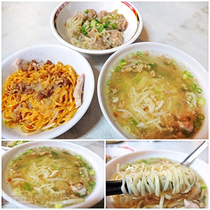 紅蘿蔔乾麵、原味湯麵和乾餛飩都是店裡的推薦品項。/玩全台灣旅遊網特約記者阿辰攝