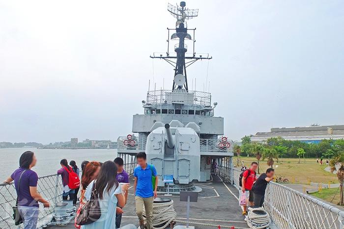艦上裝備的武器/玩全台灣旅遊網特約記者阿辰攝