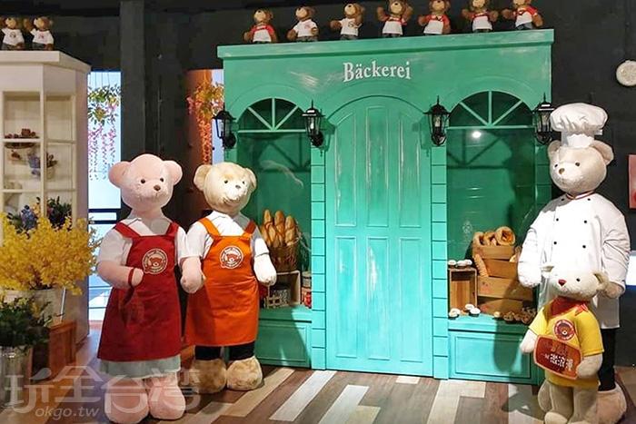 泰迪熊歐式麵包店。/玩全台灣旅遊網特約記者隱月攝