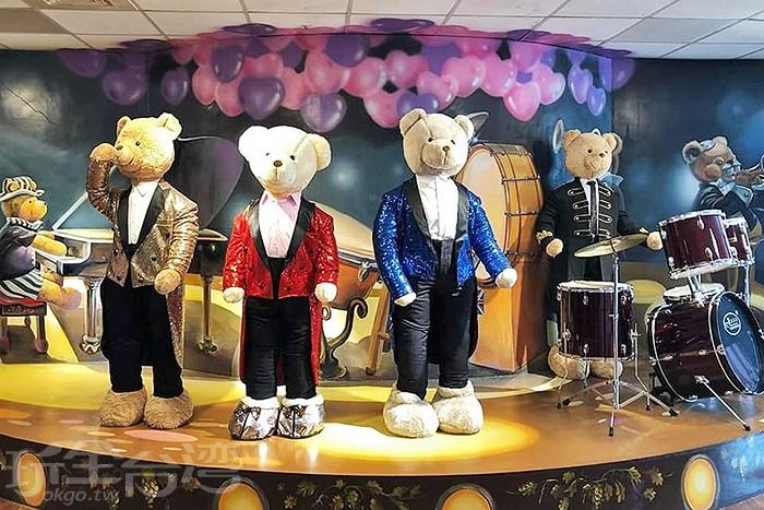 連披頭四樂團也有泰迪熊版本。/玩全台灣旅遊網特約記者隱月攝