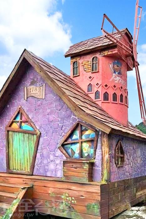 色彩繽紛的童趣小屋。/玩全台灣旅遊網特約記者隱月攝