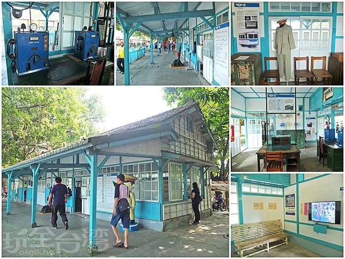 斑駁的老車站內展示著和鐵道相關的文物與介紹。/玩全台灣旅遊網特約記者阿辰攝