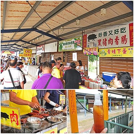 新頂埤站是烏樹林五分車的終點站,會在此停留一小段時間,有商家攤販可以買些好吃的或買飲料解渴。/玩全台灣旅遊網特約記者阿辰攝