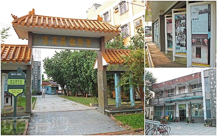 初次來到菁寮老街的新手朋友,一定要先到鄰近老街的「無米樂旅遊服務中心」索取導覽旅遊地圖。/玩全台灣旅遊網特約記者阿辰攝
