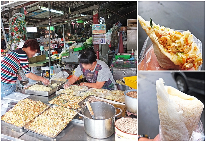 市場前這攤無店名春捲只在清明節才會出來賣/玩全台灣旅遊網特約記者阿辰攝