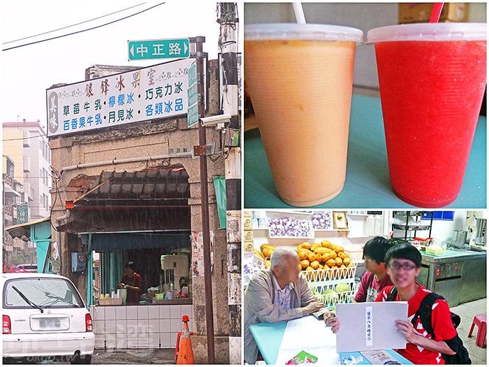 「銀鋒冰果室」在路口轉角處,維持著傳統冰果室氛圍,當地人氣甚高。/玩全台灣旅遊網特約記者阿辰攝