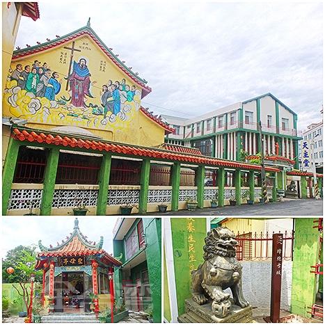 以中式建築風格聞名的「鹽水天主堂」很引人注目!/玩全台灣旅遊網特約記者阿辰攝