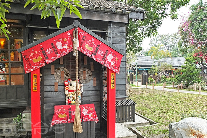 日式祈福亭造景充滿濃濃日本風情。/玩全台灣旅遊網特約記者阿辰攝