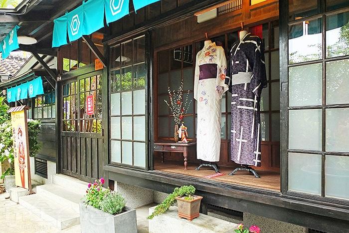 其中一棟日式老屋可提供日本和服租借服務,換上和服體驗濃濃的日式風味吧!/玩全台灣旅遊網特約記者阿辰攝