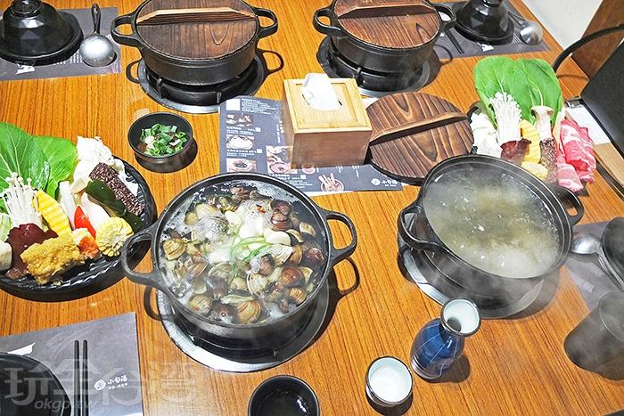 主鍋湯底基本有昆布鍋和味噌鍋兩種口味/玩全台灣旅遊網特約記者阿辰攝