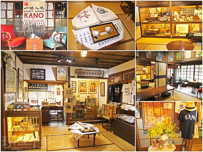 隨著電影《KANO》上映吹起嘉義旅遊熱潮,在舊時嘉義館裡,以KANO台灣棒球歷史為主題展示。/玩全台灣旅遊網特約記者阿辰攝