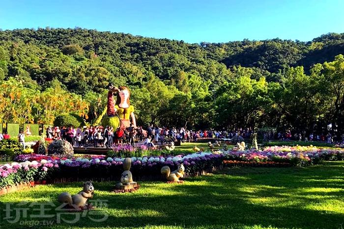 綠草如茵的士林官邸。/玩全台灣旅遊網特約記者飲月攝