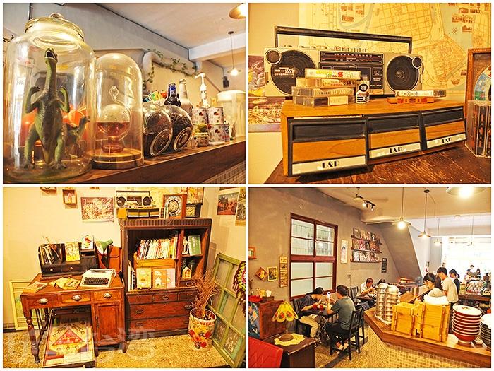 小屋子內古色古香,如此復古懷舊的用餐空間散發出一股舒服自在的老式氛圍。/玩全台灣旅遊網特約記者阿辰攝