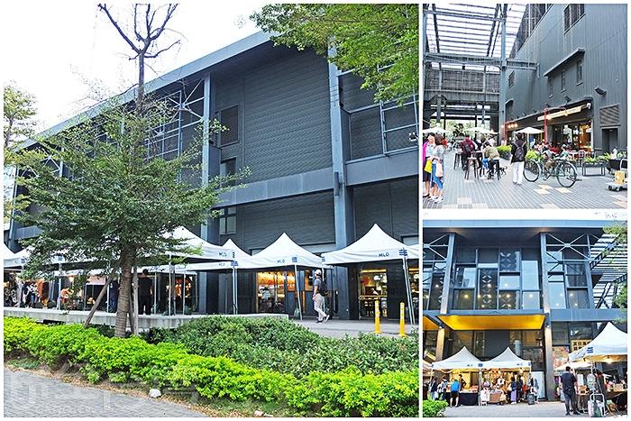 「MLD台鋁生活商場」的外型是深黑色寬面長形建築體,商場是由台鋁公司舊廠房重新改造。/玩全台灣旅遊網特約記者阿辰攝