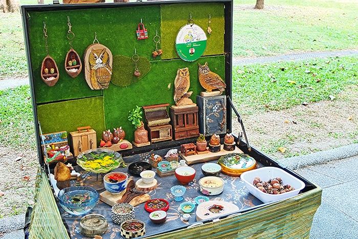 假日會有藝術市集,展售各式各樣手工藝品,來自藝術創作職人的珍貴心血。/玩全台灣旅遊網特約記者阿辰攝