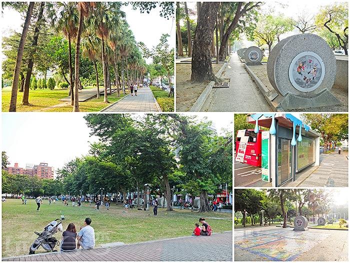 文化中心周圍步道規劃成「高雄市民藝術大道」,讓公共藝術貼近生活。/玩全台灣旅遊網特約記者阿辰攝