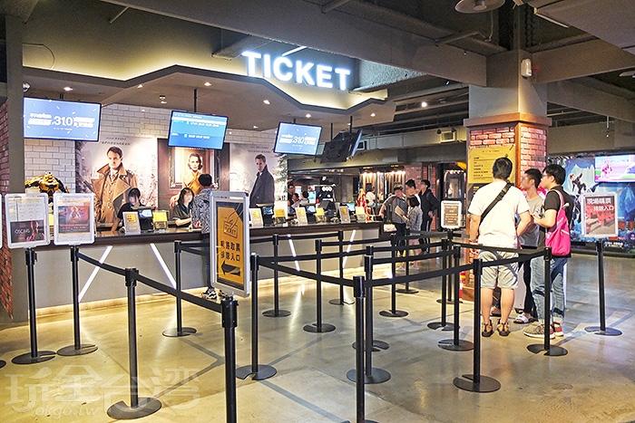 台鋁的MLD Cinema電影院也很有名,售票口在一樓,電影院在二樓。/玩全台灣旅遊網特約記者阿辰攝