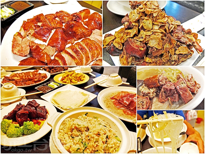 經典的烤鴨三吃(片鴨+鹽酥+酸菜冬粉湯)和金華火腿雞湯等九道招牌菜色。/玩全台灣旅遊網特約記者阿辰攝