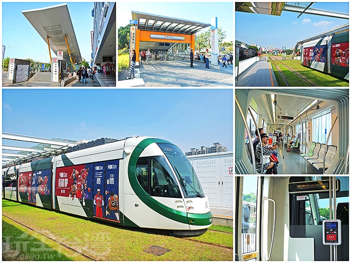 搭乘捷運+輕軌的大眾交通工具展開高雄之旅為時下風潮/玩全台灣旅遊網特約記者阿辰攝