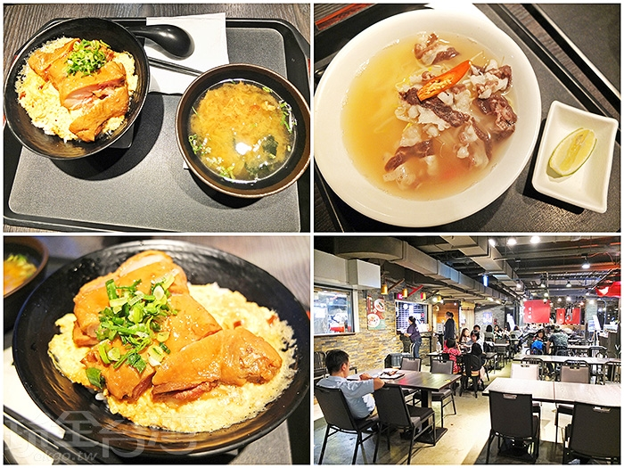 美食區在一樓空間,齊聚各國料理,讓大家一飽口福。/玩全台灣旅遊網特約記者阿辰攝