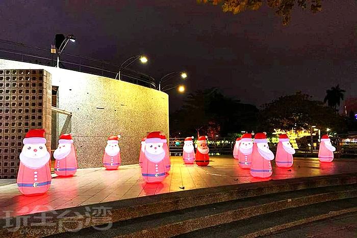萌到翻的聖誕老人。/玩全台灣旅遊網特約記者隱月攝