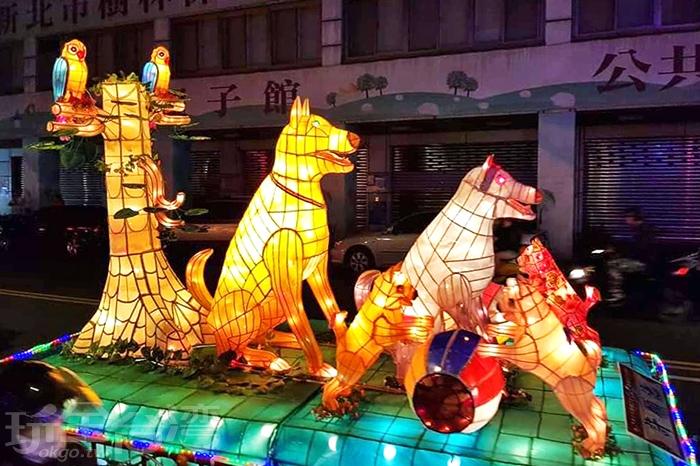 各式各地的大小燈飾齊聚在樹林之美新春嘉年華燈會。/玩全台灣旅遊網特約記者隱月攝