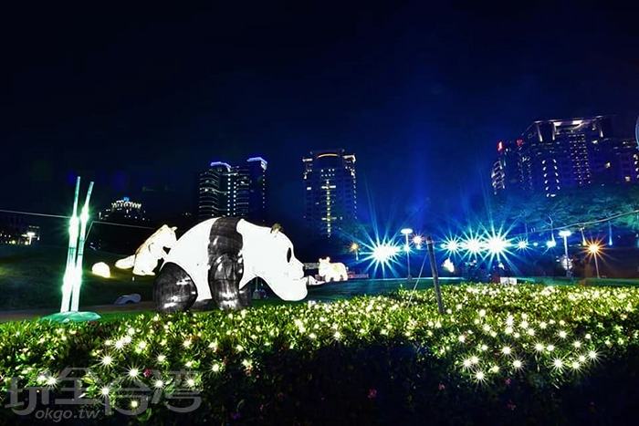 戽斗大熊貓也出現了/玩全台灣旅遊網特約記者隱月攝