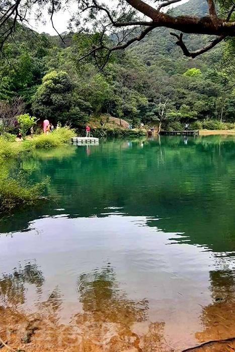 新山夢湖的美景吸引許多遊客前來。/玩全台灣旅遊網特約記者單雪攝