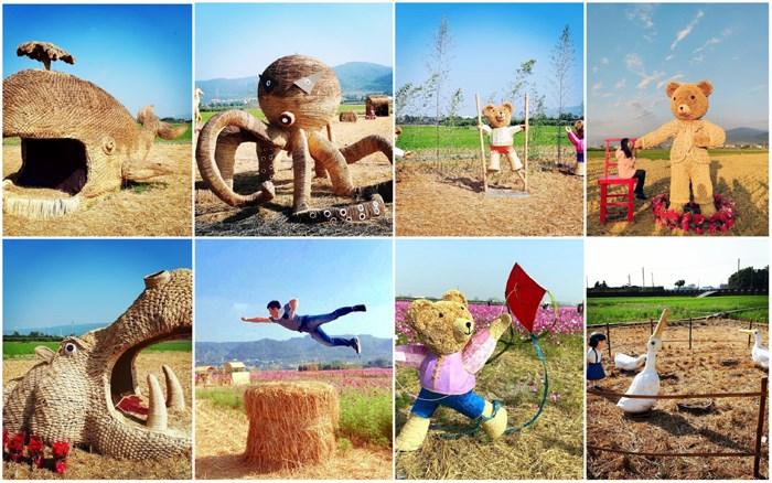 【彰化輕旅行】你能想像這是稻草嗎?周日我們就跟太陽公公來場約會,來彰化尋找稻草人的蹤影吧!