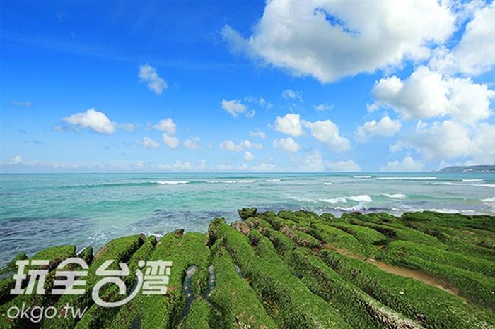 【北台灣季節限定】綠綠的綠綠的!驚!這裡的石頭怎麼全部都綠綠的?!