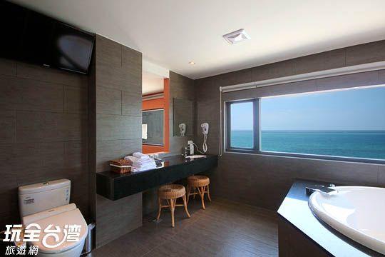 豪華蜜月雙人海景套房-頂樓(room6)