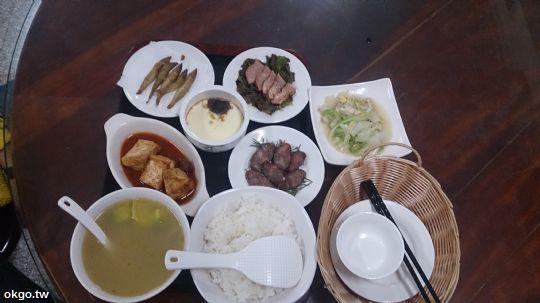 1人份行旅晚餐,5菜1湯。(詹媽媽加飯加菜) 相片來源:瑞里詹德仁茶園民宿