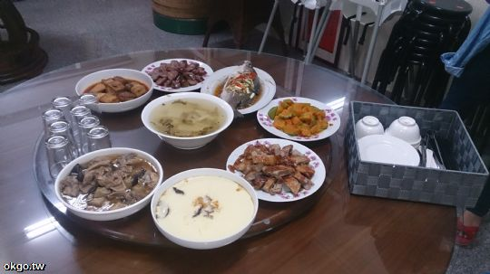 10人份行旅晚餐,7菜1湯。 相片來源:瑞里詹德仁茶園民宿
