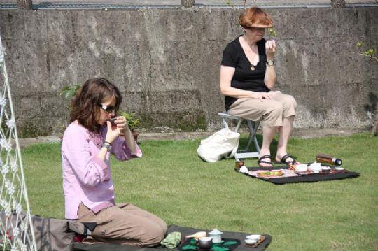 來自美國俄亥俄州的客人 相片來源:日月潭民宿~紅茶工房