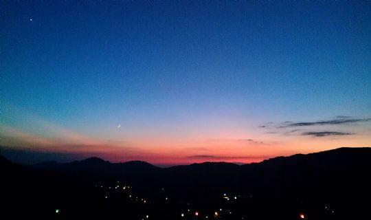 迷人的黃昏夕陽